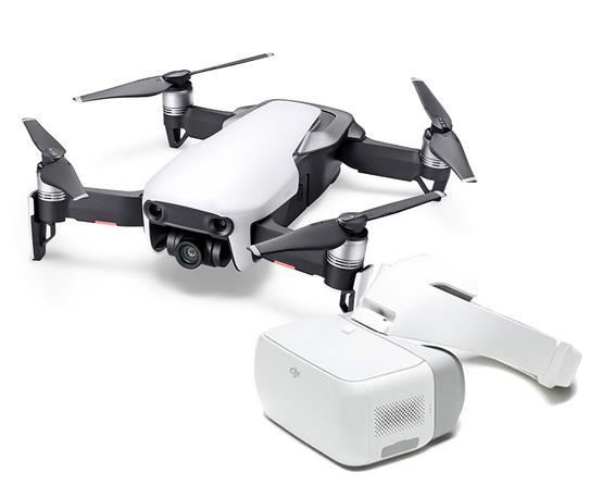 DJI Mavic Air Fly Arctic White + Goggles Bundle
