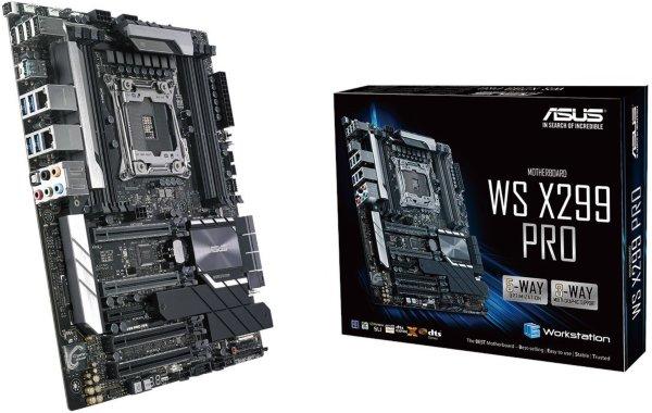 ASUS WS X299 Pro, Socket-2066 Moderkort, ATX, X299, DDR4, 4xPCIe-x16, SLI/CFX, U.2, M.2, Intel GbLAN