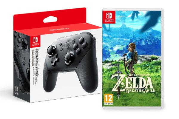Nintendo Switch Pro Controller – The Legend of Zelda Breath of the Wild bundle