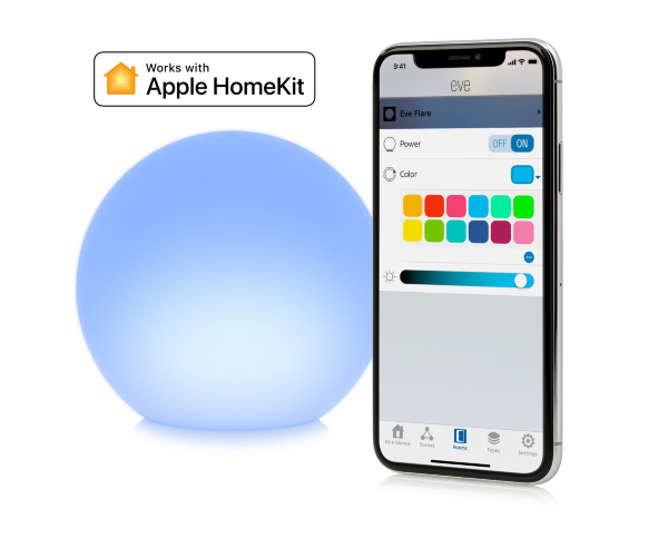 Eve Flare Smart LED lampa fungerar med Apple HomeKit