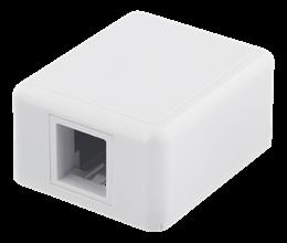 Deltaco vägguttag, utanpåliggande, 1-port, utan kontaktdon