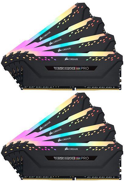 Corsair Vengeance RGB PRO 64GB (8x8GB) / 3000MHz / DDR4 / CL15 / CMW64GX4M8C3000C15