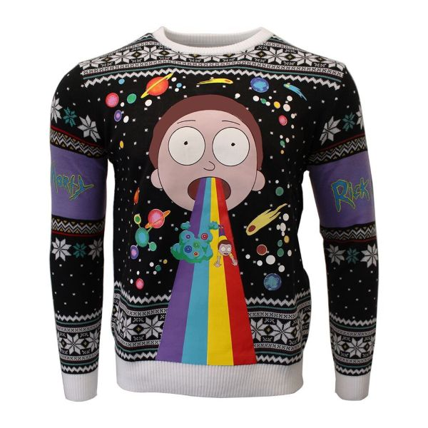 Jultröja - Rick And Morty: Morty Rainbow (M)