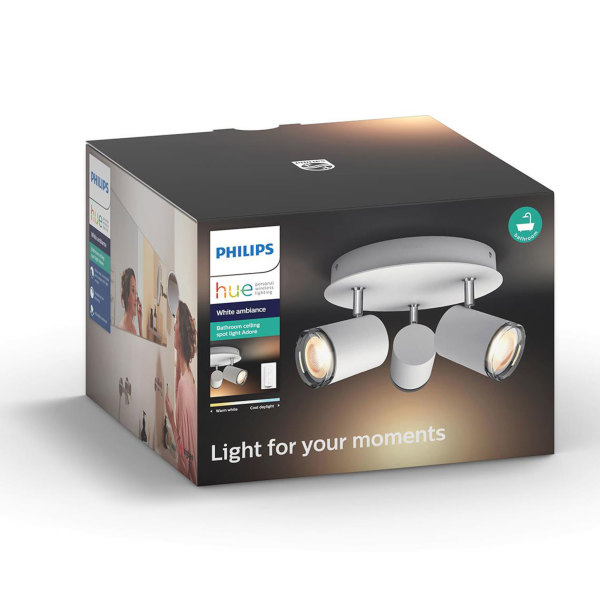 Philips Hue Adore / Ambiance / Spotlight 3x tak + Dimswitch