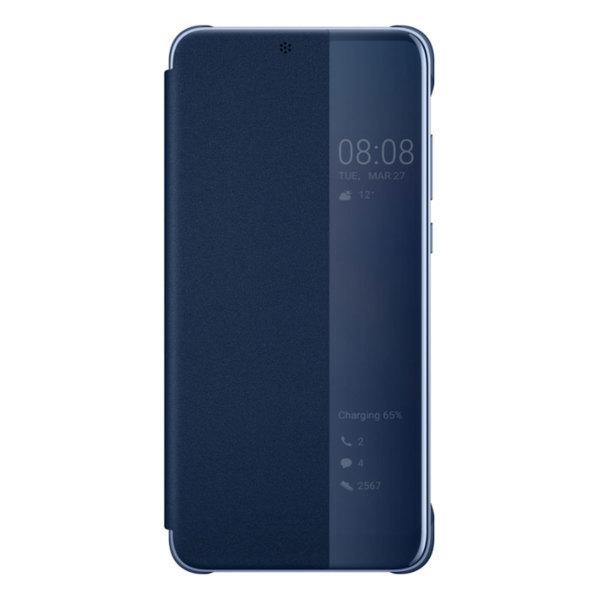 Huawei P20 / Smart View Flip Cover – Blå (Fyndvara – Klass 1)