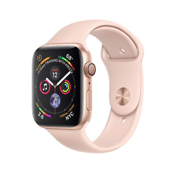 AppleWatch Series4 GPS, 40mm Gold Aluminium Case with Pink Sand Sport Band