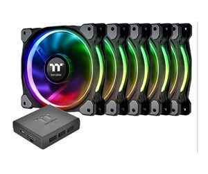 Thermaltake Riing Plus 140 mm LED RGB Radiator Fan TT Premium Edition (5-Pack)