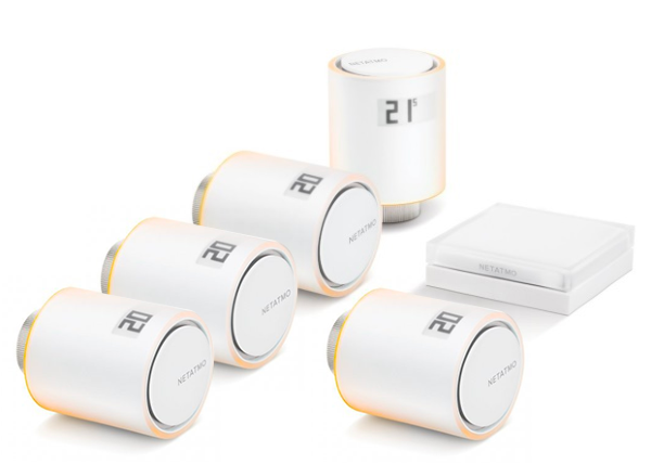 Netatmo Smart Radiator Valves (Startpaket) + 3 Valves
