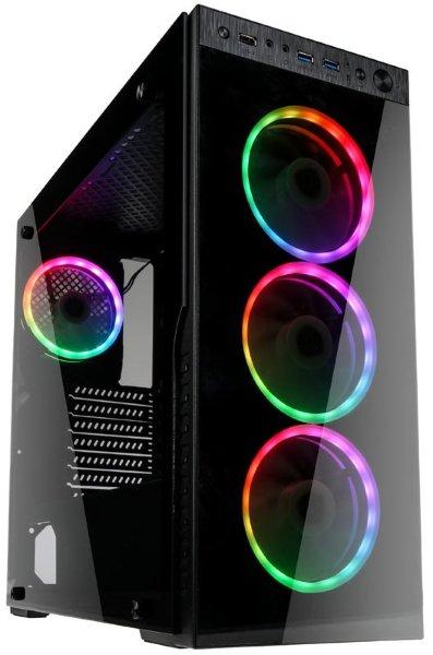 Kolink Horizon / RGB / Tempered Glass - Svart