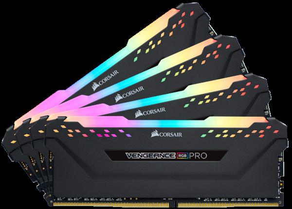 Corsair Vengeance RGB PRO 32GB (4x8GB) / 3200MHz / DDR4 / CL14 / CMW32GX4M4C3200C14