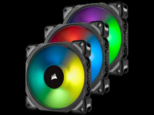 Corsair ML120 PRO / iCUE-RGB / PWM / 120mm / 3-pack - Startkit