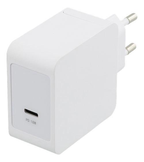 Deltaco 18W USB-C Fastcharger – White
