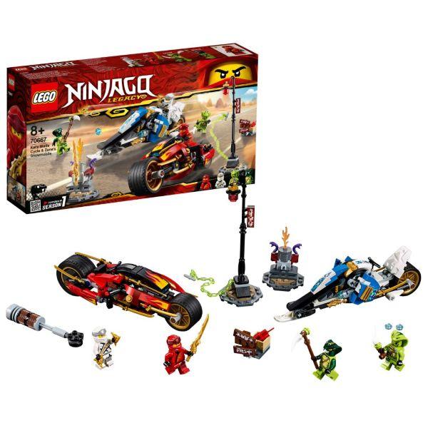 LEGO Ninjago Kais vassa motorcykel & Zanes snöskoter 70667