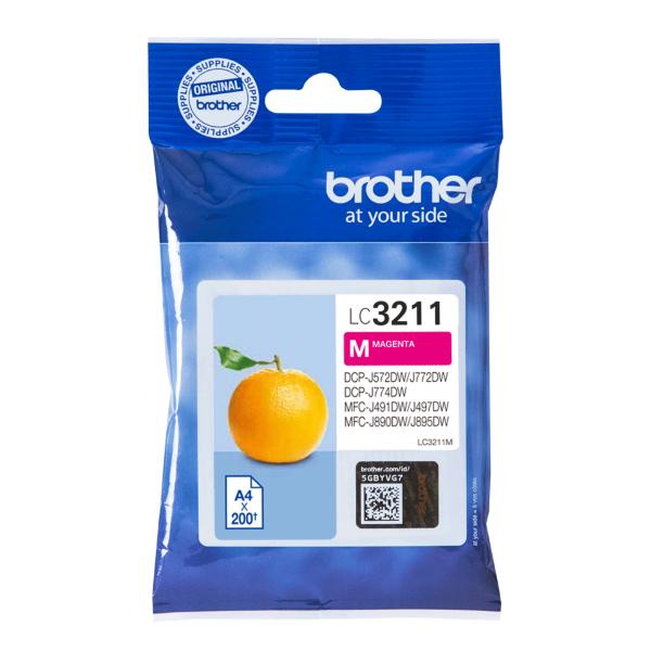 Brother LC3211M Magenta – 200 sidor