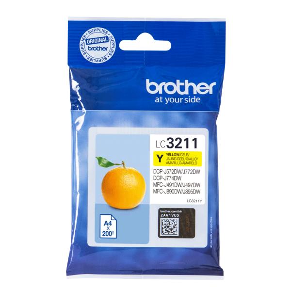 Brother LC3211Y Gul – 200 sidor