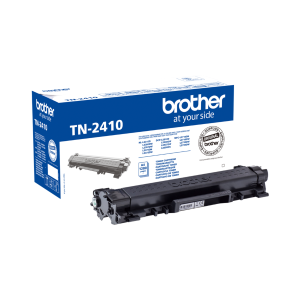 Brother TN-2410 Toner Svart - 1200 sidor
