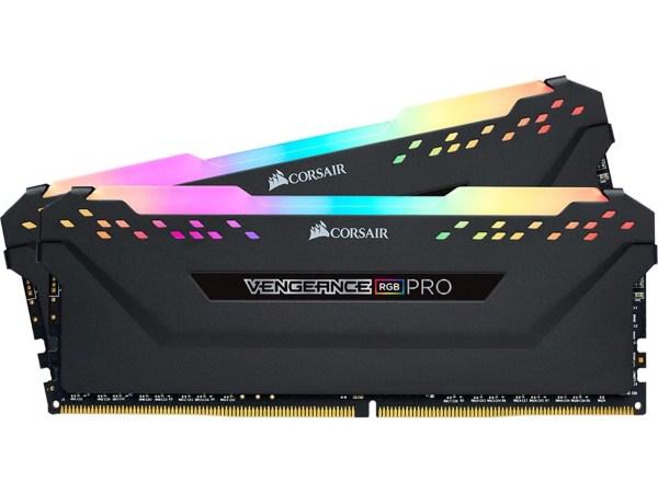 Corsair Vengeance RGB PRO 32GB (2x16GB) / 2666MHz / DDR4 / CL16 / CMW32GX4M2A2666C16 - Svart
