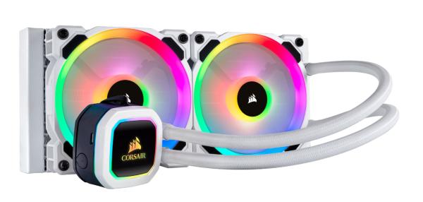 Corsair H100i RGB Platinum SE / iCUE-RGB / 240mm / Vit