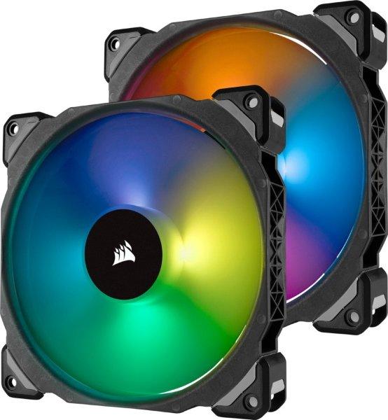Corsair ML140 PRO / iCUE-RGB / PWM / 140mm / 2-pack - Startkit