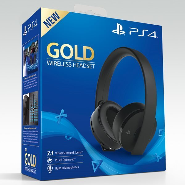 Playstation Gold Wireless Headset (Fyndvara – Klass 3)