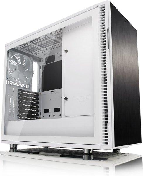 Fractal Design Define R6 / USB-C / Tempered Glass - Vit