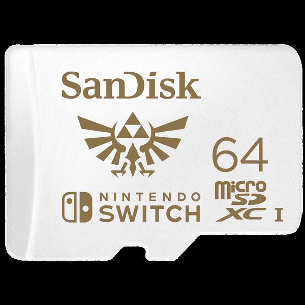 SanDisk Nintendo Switch – 64GB / MicroSDXC / Class 10 / UHS-1 / 100MB/s