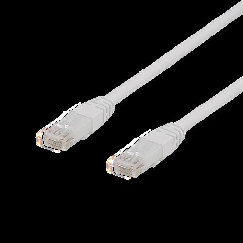 Deltaco UTP Cat6a Nätverkskabel / 10m – Vit