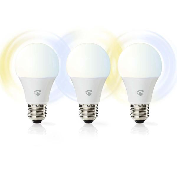 Nedis WiFi Smart LED-lampa / Ambiance – E27 – 3-Pack
