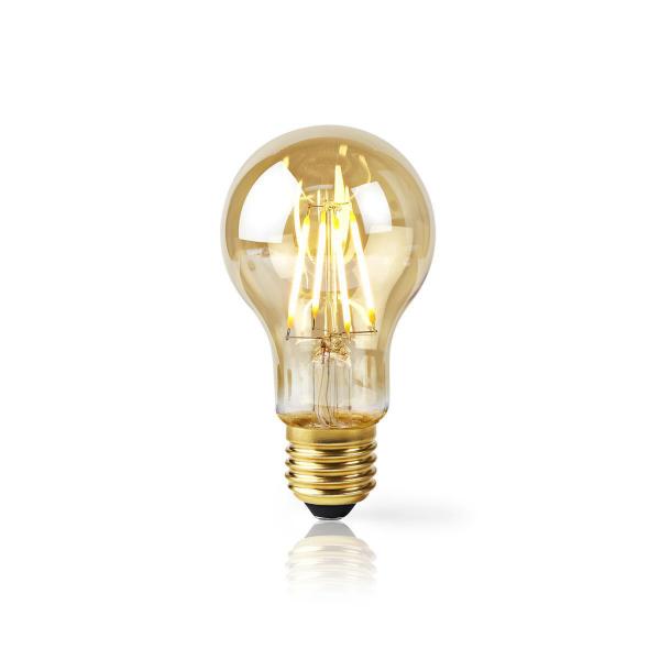 Nedis WiFi Smart LED-lampa / Filament Amber – E27