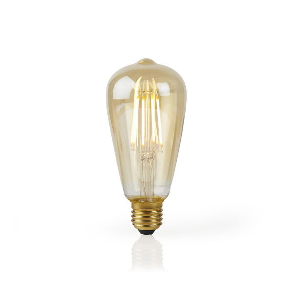 Nedis WiFi Smart LED-lampa / ST64 / Filament Amber - E27