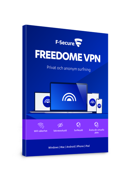 F-Secure Freedome VPN - 1 år / 3 enheter