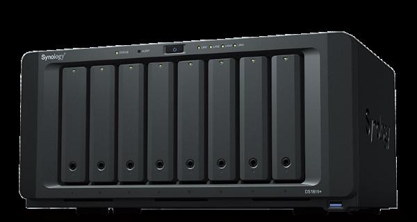 Synology DS1819+ DiskStation, 8-bay, Intel quad-core 2,1 GHz CPU, 4GB RAM