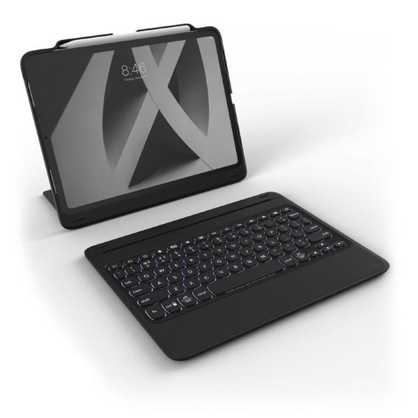"ZAGG Rugged Book Go Tangentbordsfodral - Apple iPad Pro 11"" - Svart"