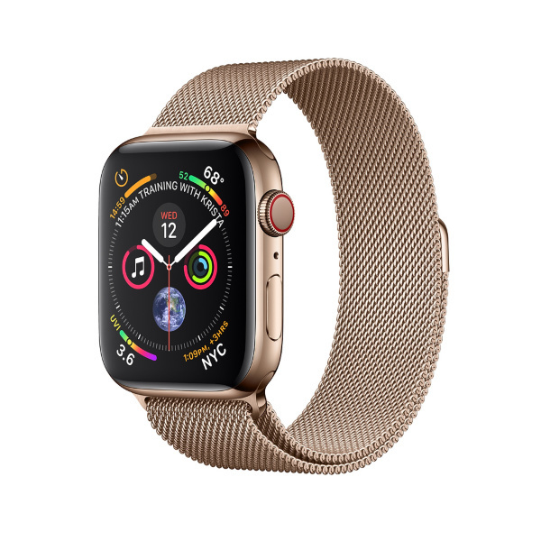 AppleWatch Series4 GPS+Cellular 44mm Gold Stainless Steel Case with Gold (Fyndvara – Klass 1)