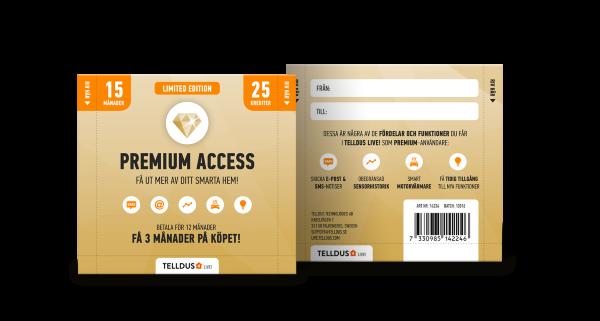 Telldus Premium access 15 månader