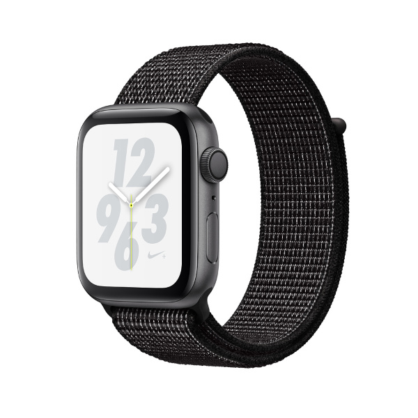 Apple Watch Nike+ Series 4 GPS, 40mm Space Grey Aluminium Case with Black Nike Sport Loop