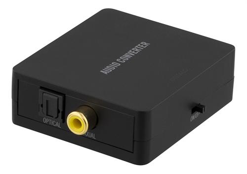 Deltaco DAC - Digitalt till Analogt Ljud, Koax/Optiskt till RCA-Stereo