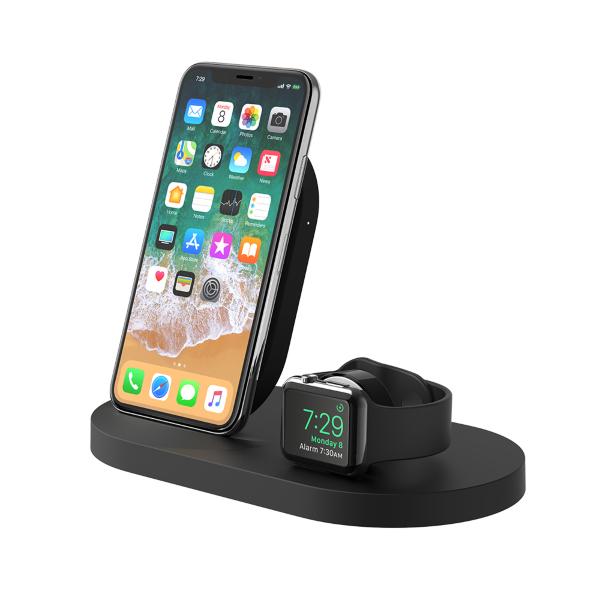 Belkin Trådlös Laddare iPhone / Apple Watch / 1x USB-A – Svart (Fyndvara – Klass 1)