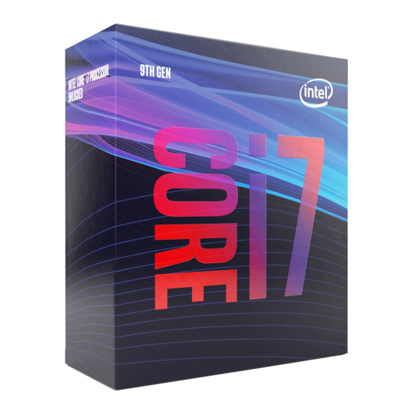 Intel Core i7-9700 – 8 kärnor / 8 trådar / 3.0 GHz (4.7 GHz Turbo) / 12MB / Socket 1151