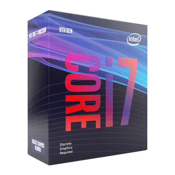 Intel Core i7-9700F - 8 kärnor / 8 trådar / 3.0 GHz (4.7 GHz Turbo) / 12MB / Socket 1151 / Utan IGP