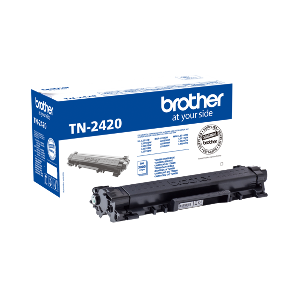 Brother TN-2420 Svart - 3000 sidor