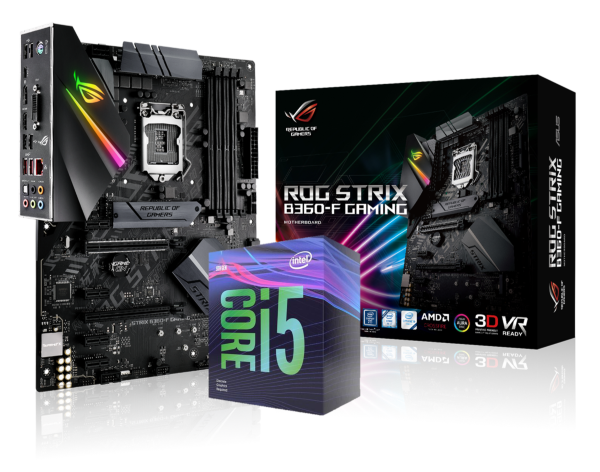 ASUS ROG STRIX B360-F GAMING + Intel Core i5-9400F
