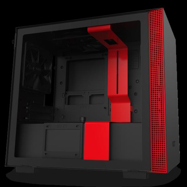 NZXT H210i / CAM-RGB / Tempered Glass - Svart/Röd