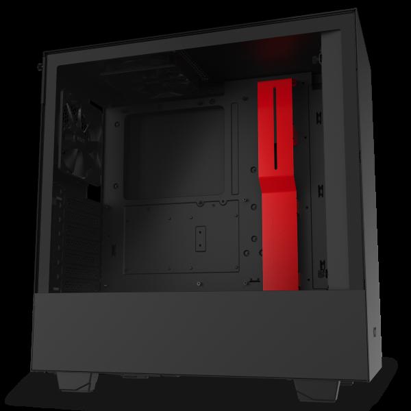 NZXT H510 / Tempered Glass - Svart/Röd