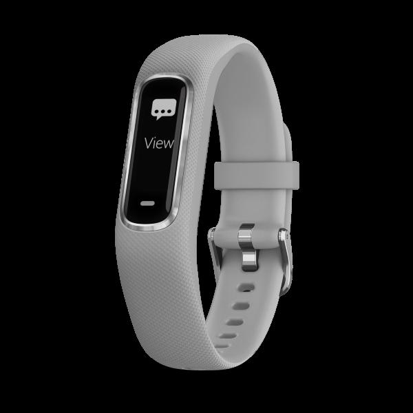 Garmin Vivosmart 4 Small/Medium – Silver Case with Grey Band