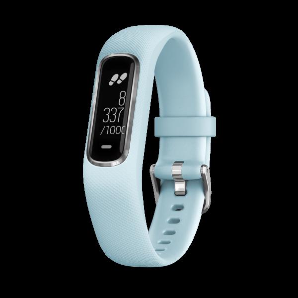 Garmin Vivosmart 4 Small/Medium – Silver Case with Azure Blue Band