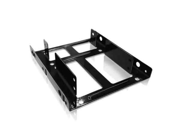 """ICY BOX IB-AC643 Adapter 2x2,5"""" hårddiskar i en 3,5"""" - Svart"""