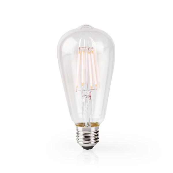Nedis WiFi Smart LED-lampa / ST64 / Filament - E27