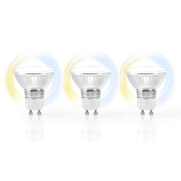 Nedis WiFi Smart LED-lampa / Ambiance – GU10 – 3-Pack