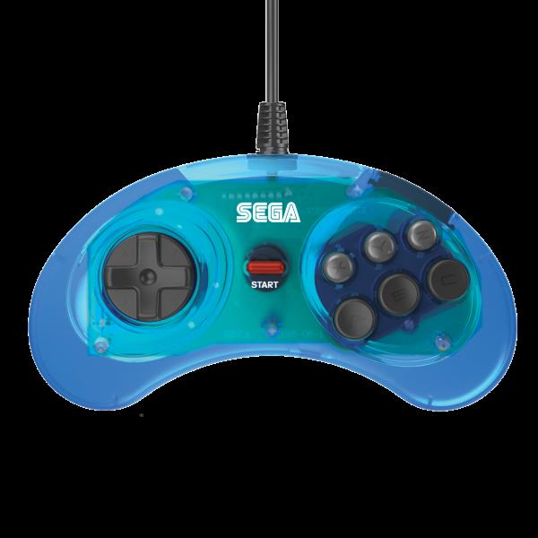 Retro-Bit SEGA MD Mini 6-B USB Blue